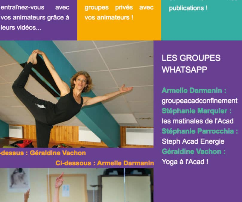 Newsletter Juin « reprise gym partielle »