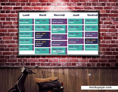 Planning gym bien-être vacances
