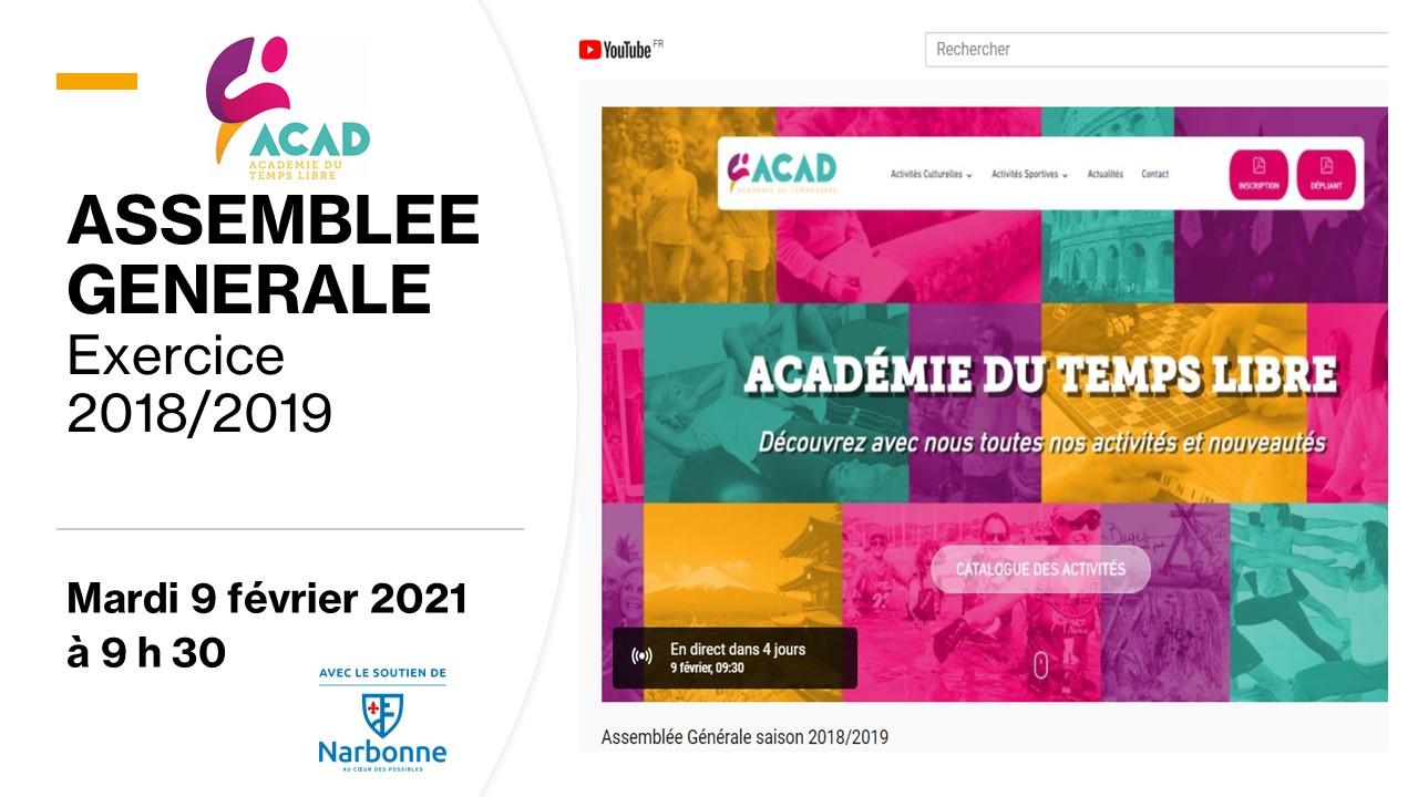 ACAD - Assemblée Générale – Exercice 2018/2019