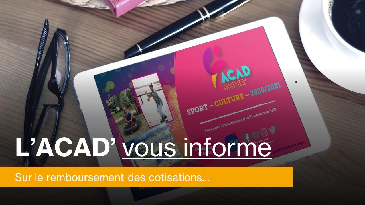 ACAD - L'Acad vous informe…